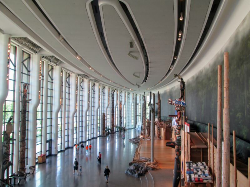 Inside the Canadian Museum of History in Gatineau, Quebec.