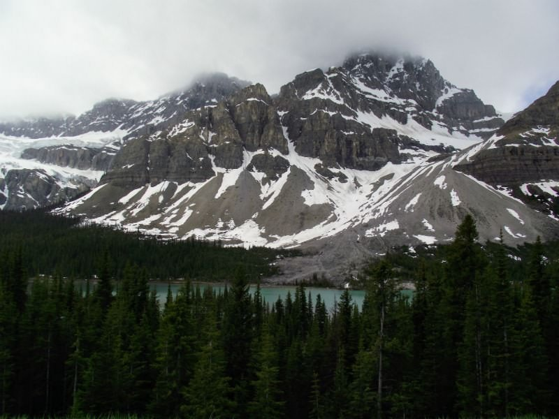 Rocky Mountains on the Icefield Parkway Drive in Alberta