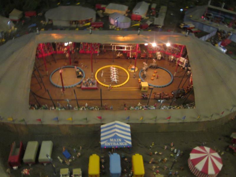 Circus Scene at Miniature World in Victoria.
