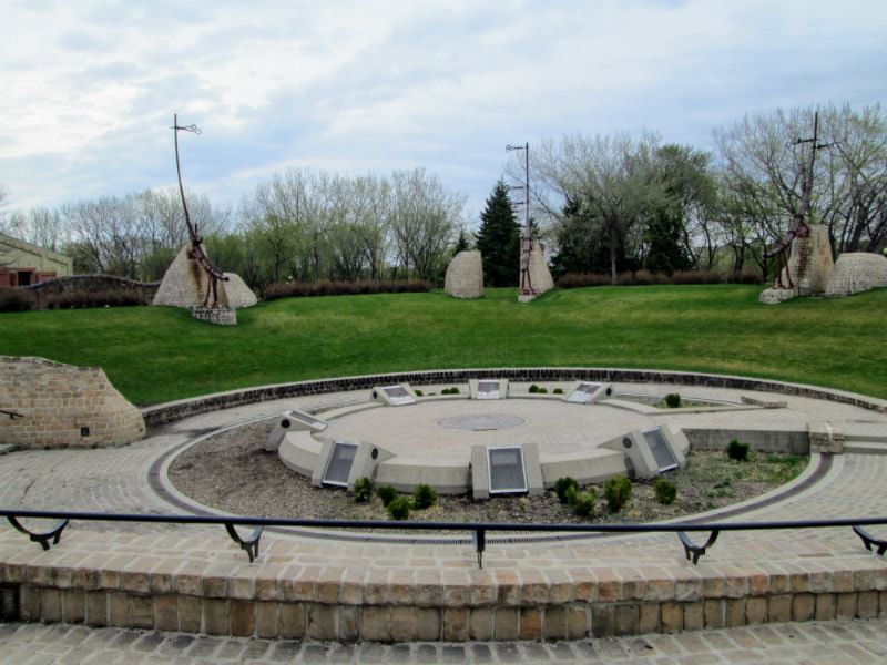 The Oodena Celebration Circle at The Forks in Winnipeg, Manitoba.