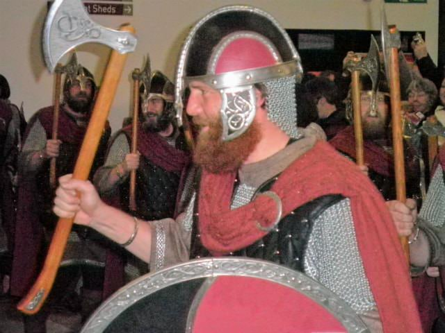Viking Squad Member at the Up Helly Aa Festival in Lerwick, UK.